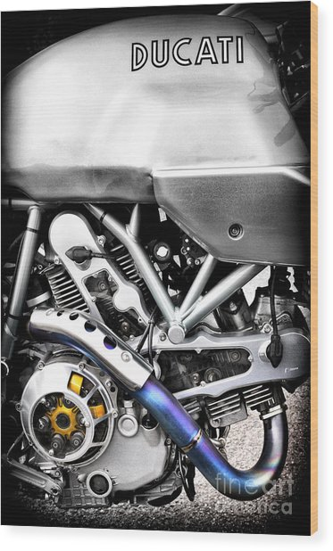 Ducati Ps1000le Engine Wood Print