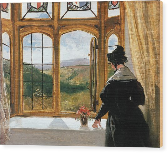 Duchess Of Abercorn Looking Out Of A Window Wood Print