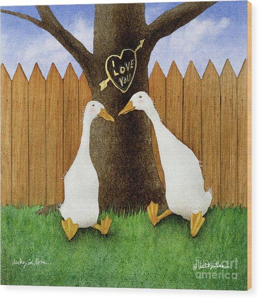 Ducky In Love... Wood Print by Will Bullas