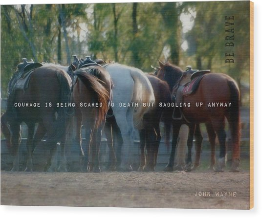 Dude Ranch Quote Wood Print by JAMART Photography