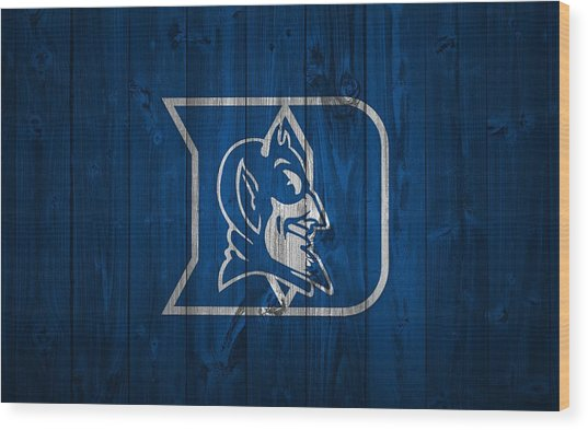 Duke Blue Devils Barn Door Wood Print