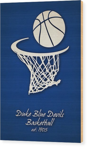Duke Blue Devils Basketball Wood Print
