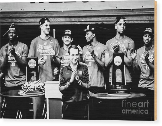 Duke National Champions Wood Print