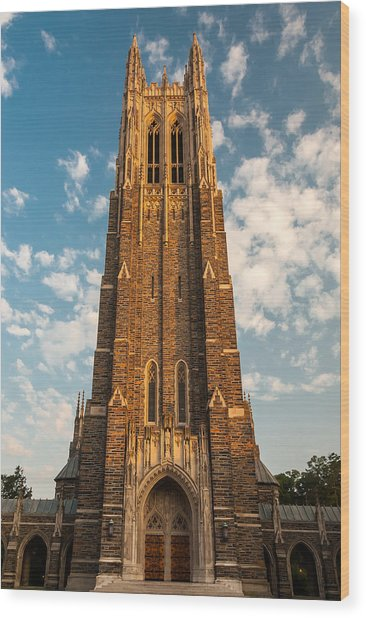 Duke University Chapel Wood Print