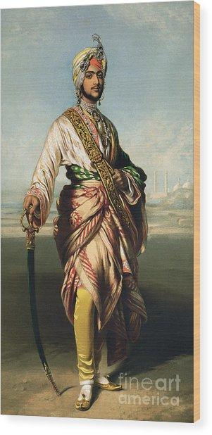 Duleep Singh, Maharajah Of Lahore Wood Print by Franz Xaver Winterhalter