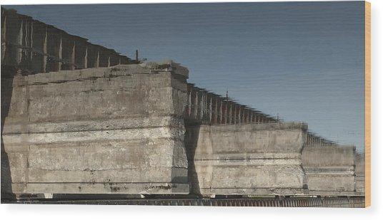 Dundas Railway Bridge Wood Print by Michael Rutland