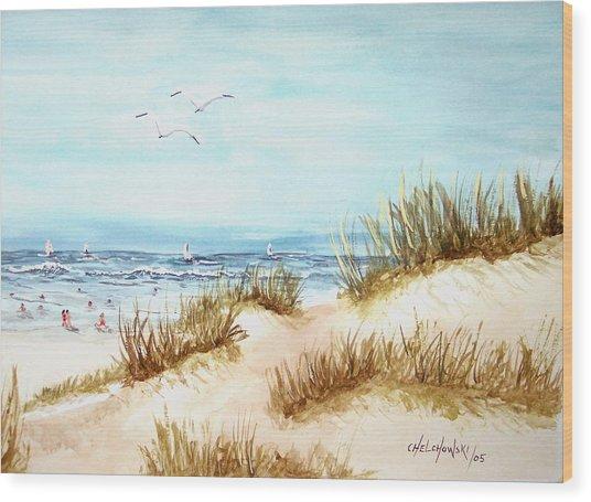 Dune Beach Wood Print