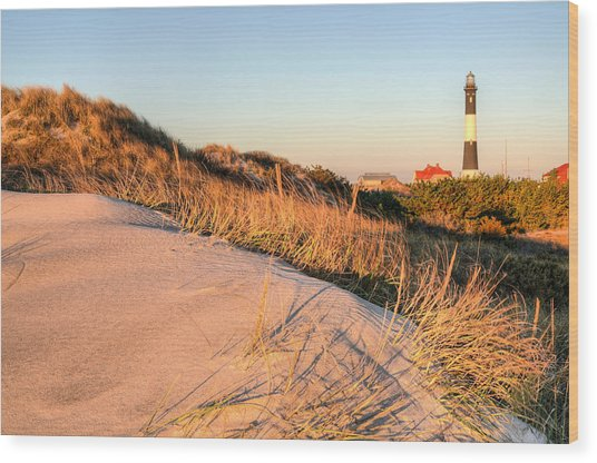 Dunes Of Fire Island Wood Print
