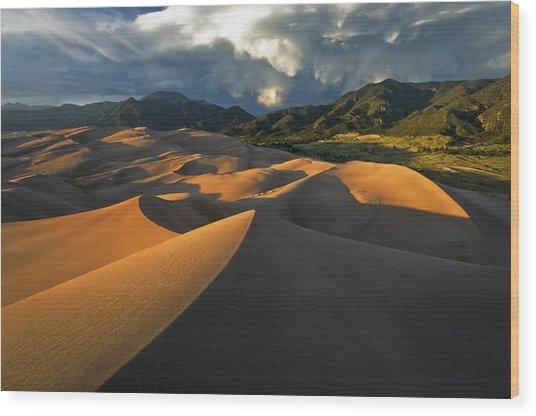 Dunescape Monsoon Wood Print