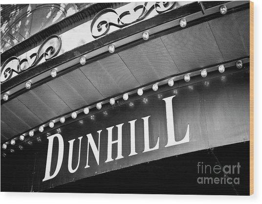 Dunhill Bw Wood Print