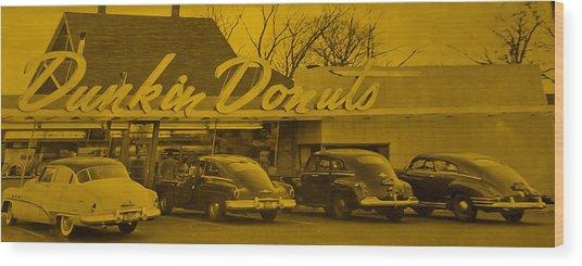 Dunkin Donuts Wood Print