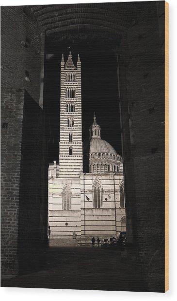 Duomo Di Siena Wood Print by Carl Jackson