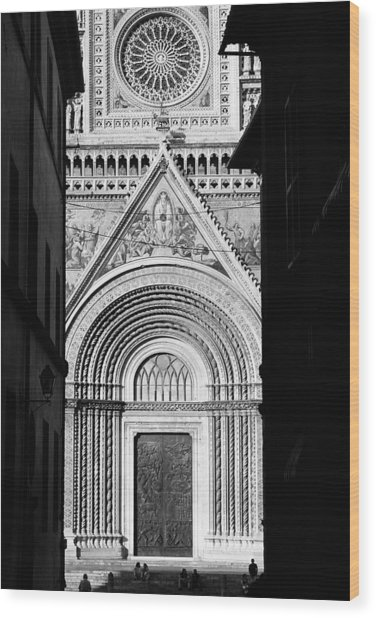 Duomo I Wood Print by Artecco Fine Art Photography