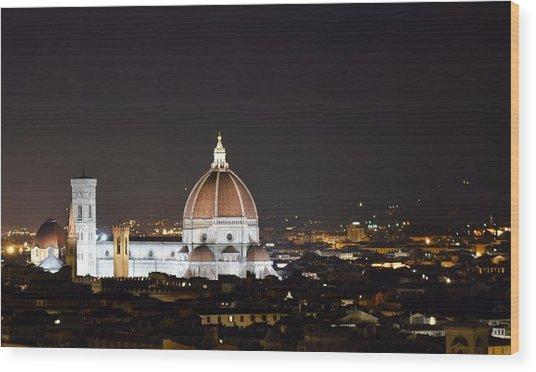 Duomo Illuminated Wood Print