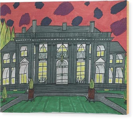 Dupont Family Mansion. Wood Print