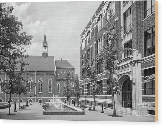 Duquesne University Chapel And Canevin Hall Wood Print