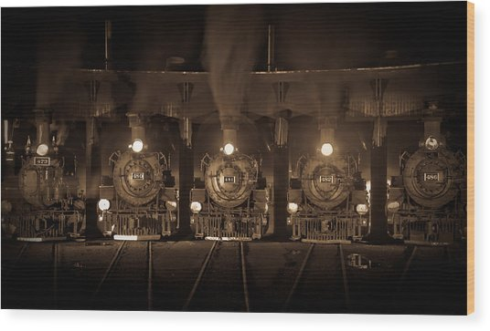 Durango Roundhouse Wood Print by Patrick  Flynn