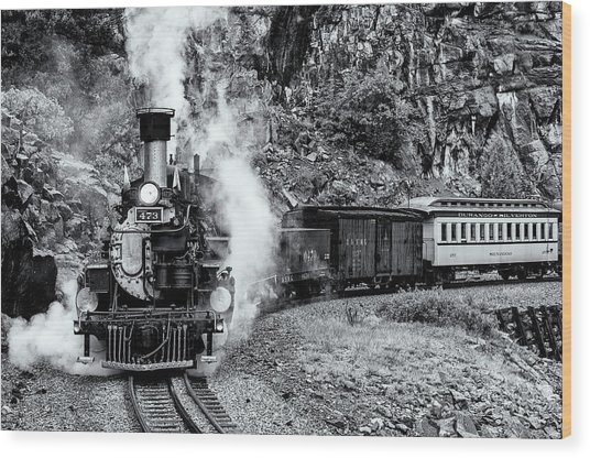 Durango Silverton Train Bandw Wood Print