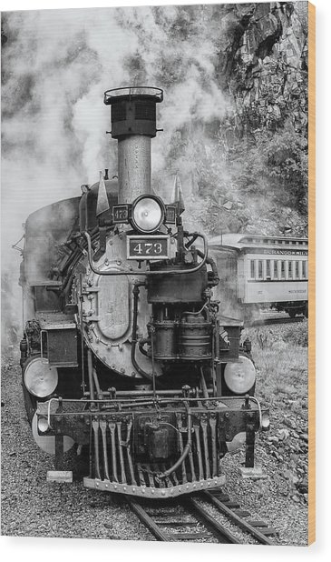 Durango Silverton Train Engine Wood Print