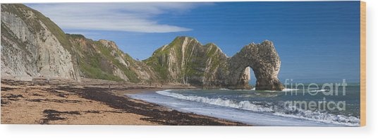 Durdle Door Dorset Uk Wood Print by Donald Davis
