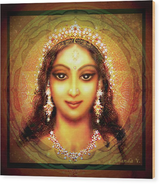 Durga In The Sri Yantra Wood Print