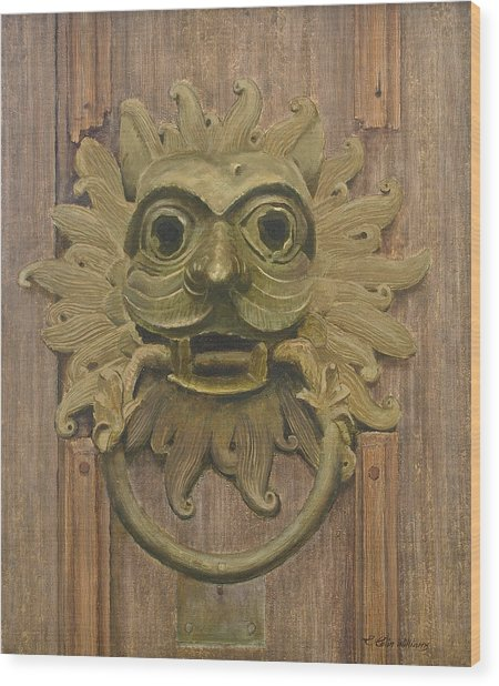 Durham Cathedral Door Knocker Wood Print