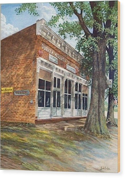 Durham Mercantile  Sold Wood Print