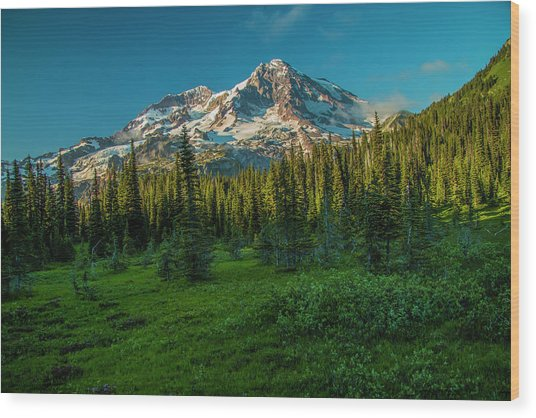 Dusk At Indian Henry Campground Wood Print