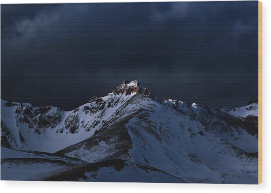 Dusk At Loveland Pass Wood Print