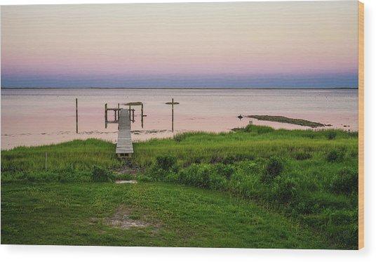 Dusk At Battle Point, Accomac, Virginia Wood Print
