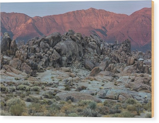 Wood Print featuring the photograph Dusk In The Alabama Hills by Stuart Gordon