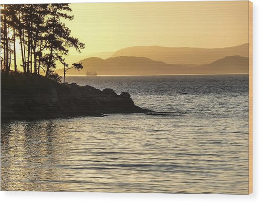 Dusk On Sucia Island Wood Print