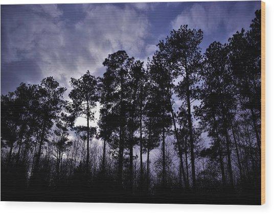 Dusk Settles Wood Print