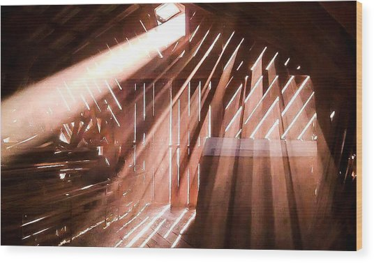Dusty Rays Wood Print