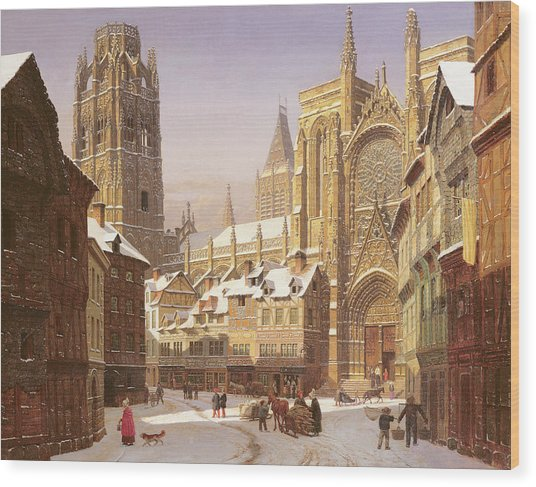 Dutch Cathedral Town Wood Print