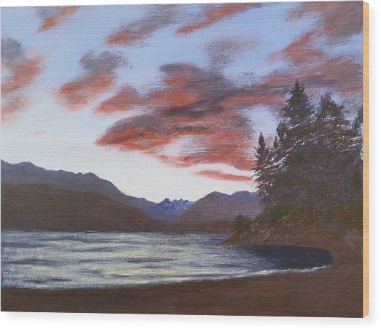 Dutch Harbour, Evening Sky Wood Print