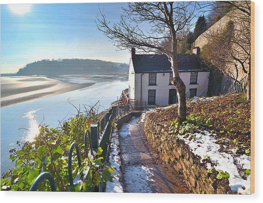 Dylan Thomas Boathouse 1 Wood Print