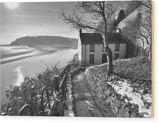 Dylan Thomas Boathouse 1b Wood Print