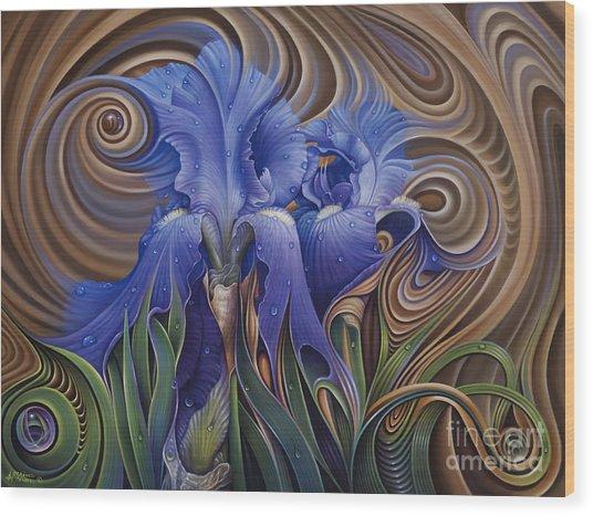 Dynamic Iris Wood Print