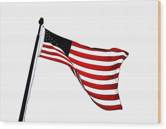 Dynamic Stars And Stripes Wood Print