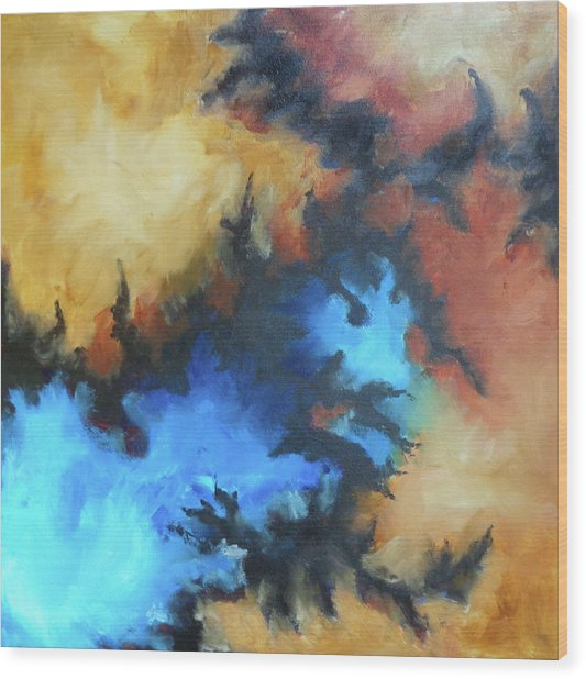 Dynasty Expressionist Painting Wood Print