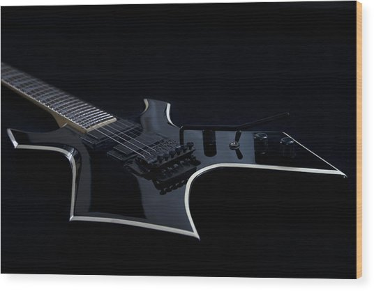 E-guitar Wood Print by Melanie Viola