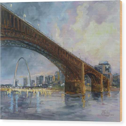 Eads Bridge - St.louis Wood Print