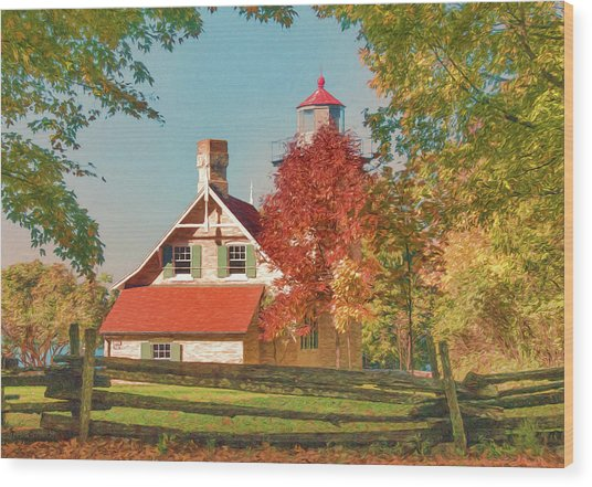 Eagle Bluff Lighthouse_1 Wood Print