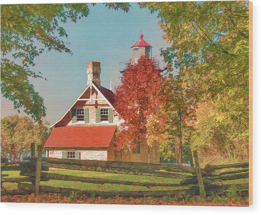 Eagle Bluff Lighthouse_1 Wood Print