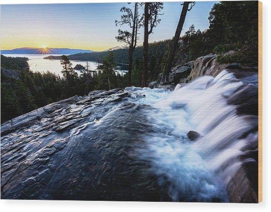 Eagle Falls At Emerald Bay Wood Print