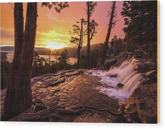 Wood Print featuring the photograph Eagle Falls Sunrise by Wesley Aston