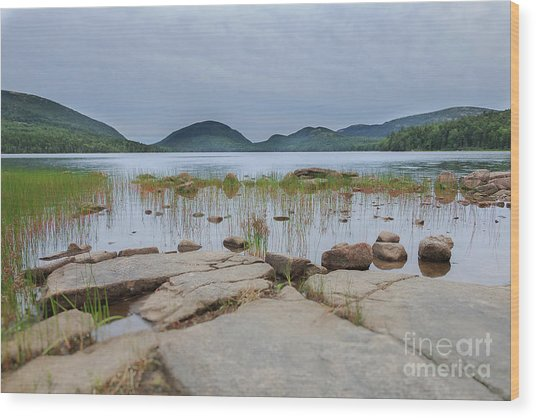 Eagle Lake Acadia National Park Wood Print