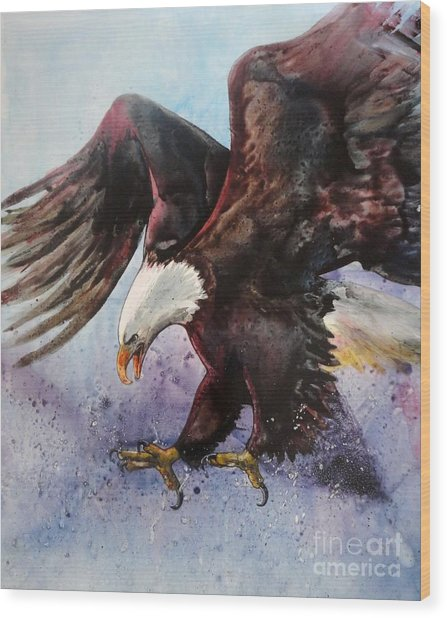 Eagle Of Light Wood Print
