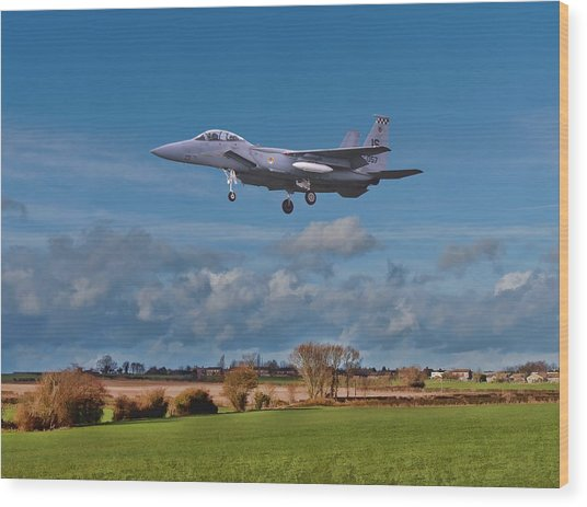 Wood Print featuring the photograph Eagle On Finals by Paul Gulliver